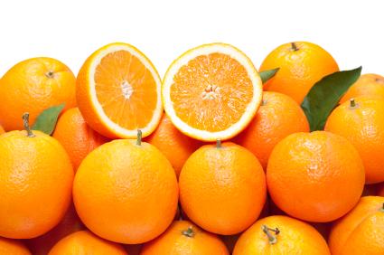 積みあがっているオレンジ