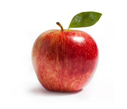 葉っぱつきのりんご。