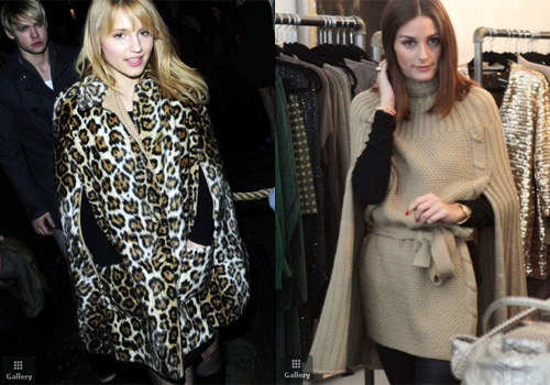Diana Agron of the cast of Glee enjoys a chilly night out in London